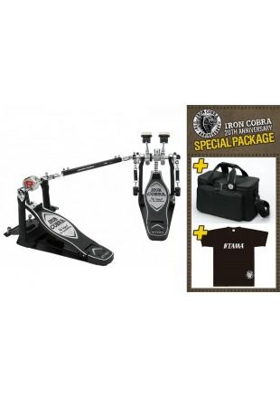 Tama HP900PWA stopa perkusyjna podwójna IRON COBRA Silver/Black + torba i t-shirt!