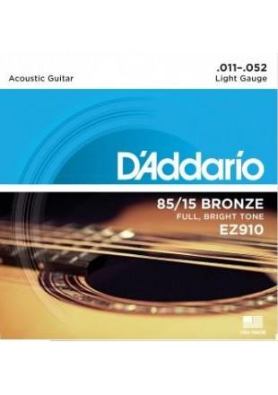 D'Addario EZ-910 struny do gitary akustycznej 11-52