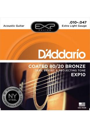 D'Addario EXP10 struny do gitary akustycznej 10-47