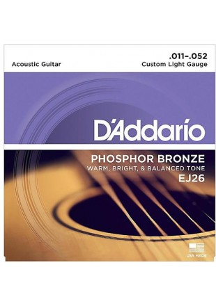 D'Addario struny do gitary akustycznej EJ-26