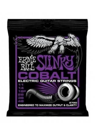 Ernie Ball 2720 do gitary elektrycznej (11-48) Cobalt Power Slinky.