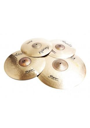 "Amedia zestaw talerzy perkusyjnych Vigor Rock Shiny Set + Splash 8""+ gratisy!!!"