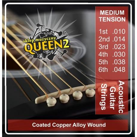 Queen AK1048 struny do gitary akustycznej