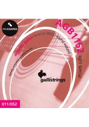 Galli AGB1152 Bronze 80/20  struny do gitary akustycznej 11-52