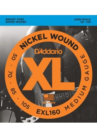 D'Addario EXL160 struny do gitary basowej 50-105