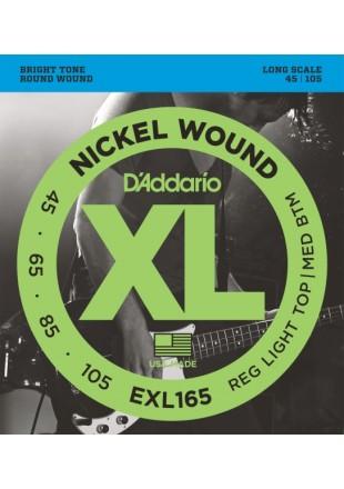 D'Addario EXL165 struny do gitary basowej 45-105