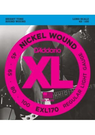 D'Addario EXL170 struny do gitary basowej 45-100