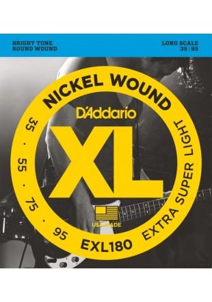 D'Addario EXL180 struny do gitary basowej 35-95