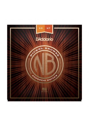 D'Addario struny do gitary akustycznej NB 10-47