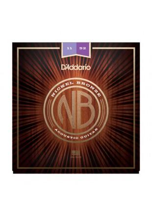 D'Addario struny do gitary akustycznej NB 11-52