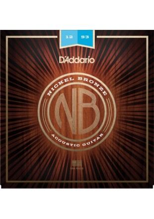 D'Addario struny do gitary akustycznej NB 12-53