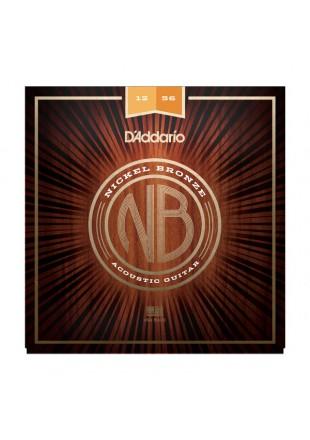 D'Addario struny do gitary akustycznej NB 12-56