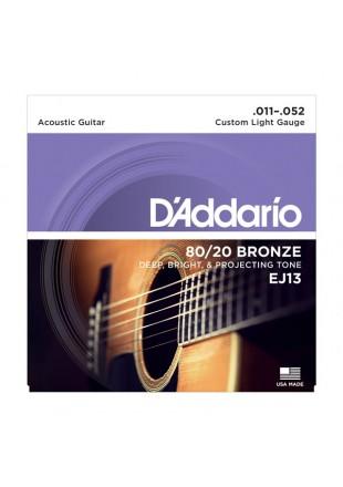 D'Addario struny do gitary akustycznej EJ13