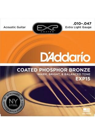 D'Addario struny do gitary akustycznej EXP15 10-47
