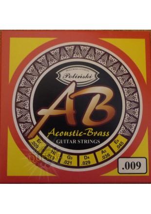 Poliński struny do gitary akustycznej Acoustic Brass AB 009