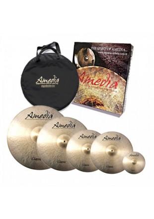 Amedia Classic Set zestaw talerzy perkusyjnych + Splash 8 + POKROWIEC